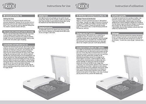 Trixie 24372 Futterautomat TX2, 2 x 300 ml, 27 x 7 x 24 cm,...