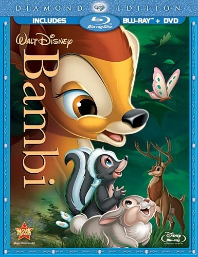 Cover art for  Bambi (Two-Disc Diamond Edition Blu-ray/DVD Combo in Blu-ray Packaging)
