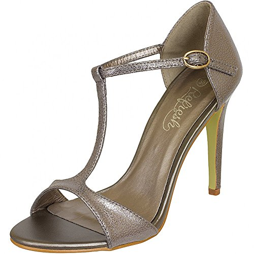 Refresh Shoes, Sandali donna Nero nero, Nero (bronzo), 41