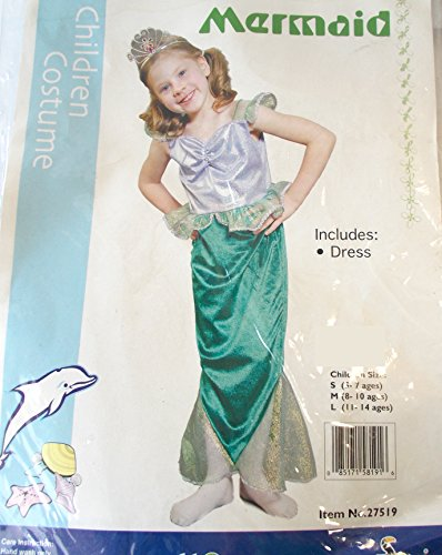 Little Mermaid Ariel Child Costume Dress 3-4 NIP