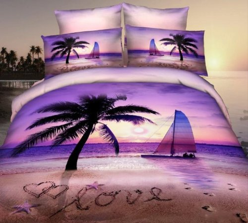 Palm Tree Bedding 8186 front