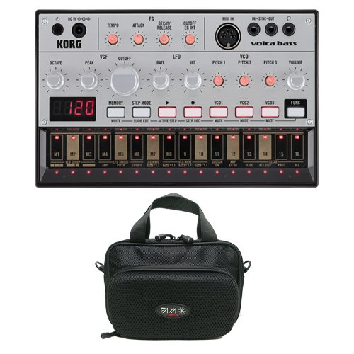 Korg Volca Bass With Pava Fps-2 Bag With Built-In Speakers Bundle