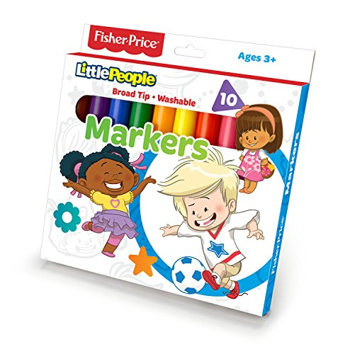 Primary Colors Fisher Price 10ct Classic Markers (465-FP) - 1