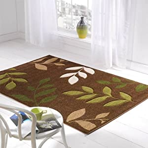 Flair Rugs Orleans Manor Hand Carved Rug, Brown/Green, 120 x 170 Cm from Flair Rugs
