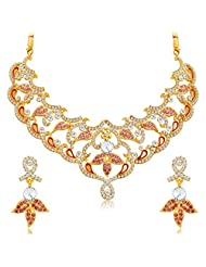 Sukkhi Enchanting Gold Plated AD Necklace Set For Women
