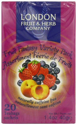 London Fruit and Herb Fruit Fantasy Variety Pack 20 Teabags (Pack of 6, Total 120 Teabags)