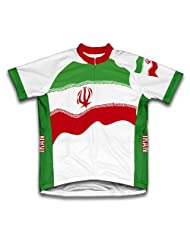 Iran Flag Short Sleeve Cycling Jersey for Women
