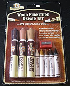 Parker Bailery Wood Furniture Repair Kit Filler Sticks And Woodtone Markers