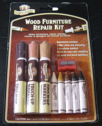 Parker & Bailery Wood Furniture Repair Kit- Filler Sticks and Woodtone Markers