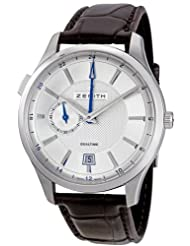Best Price Zenith Men's 03.2130.682/02.C498 Captain Dual Time Silver Dial Watch USA Sale