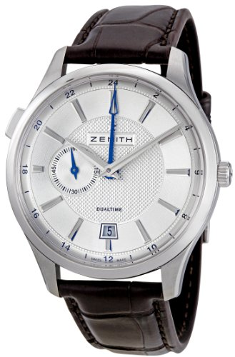 ZENITH CAPTAIN DUAL TIME 03.2130.682/02.C498 GENTS BROWN CALFSKIN DATE WATCH
