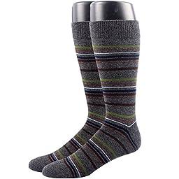 RioRiva Men\'s Dress Socks Mid Calf Crew Tube Socks for Business Grey Black Navy,MSK45 - Pack of 2,One Size