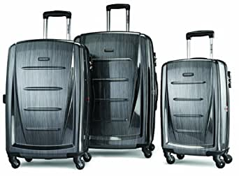 Samsonite Luggage Winfield 2 Fashion HS 3 Piece Set, Charcoal, One Size
