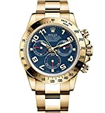 Rolex Daytona Yellow Gold Watch Blue Dial 116528 Unworn 2016