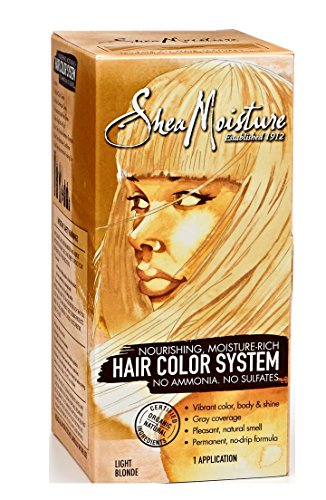 Shea Moisture Hair Color System Light Blonde - Sulfate-Free Permanent Hair Dye With No Ammonia - Salon Quality Moisture, Strength & Shine (Shea Moisture Dye compare prices)
