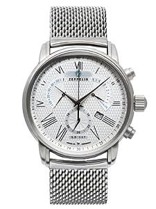 Zeppelin Men's Quartz Watch Watches 7682M4 with Metal Strap