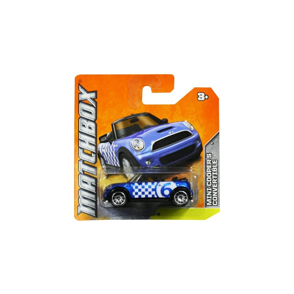 Matchbox Diecast Car Mini Cooper S Convertible (Blue) No.6