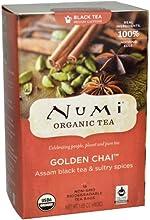 Numi Organic Tea Golden Chai Full Leaf Black Tea -  1 x 18 Tea Bag