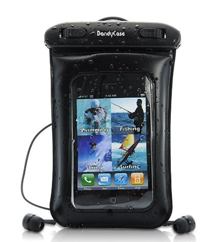 Dandycase Waterproof Case With Underwater Earphones For Apple Iphone 4, 4S - Also Works With Ipod Touch 2, 3, 4, Iphone 3G, 3Gs, & Other Smartphones - Ipx8 Certified To 65 Feet [Retail Packaging By Dandycase]