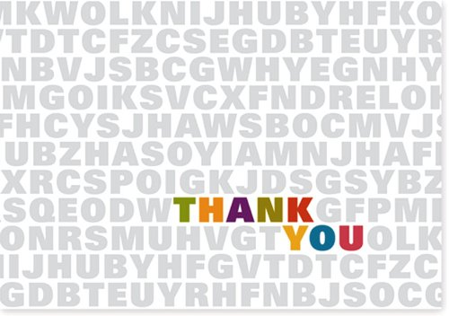 Alphabet Soup Thank You Notes (Stationery, Note Cards)