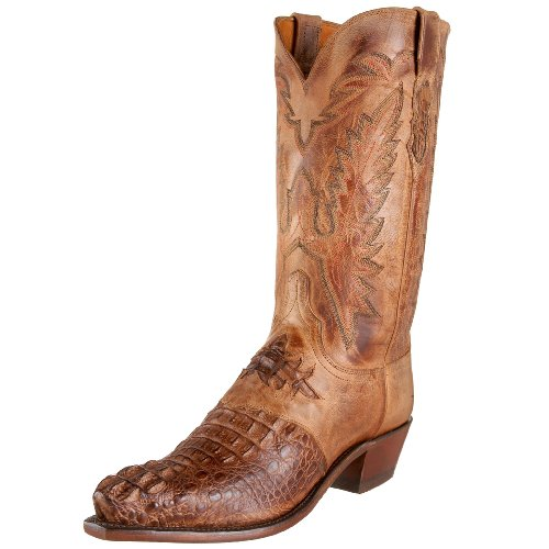 1883 by Lucchese Men's N1112 5/4 Western Boots,Tan Burnish,8 D(M)US