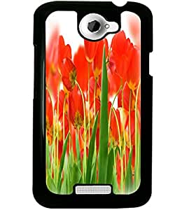 ColourCraft Beautiful Flowers Design Back Case Cover for HTC ONE X