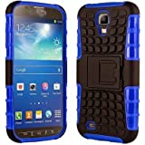 Galaxy s4 Case, Galaxy s4 Armor cases- [DragonSkin℠] Tough Armorbox Dual Layer Hybrid Hard/Soft Protective Case by Cable and Case® - Blue Armor Case