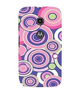 EPICCASE Cool circles Mobile Back Case Cover For Moto E 2nd Generation (Designer Case)