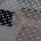 "Diamond Plate Film Vinyl Sheet Roll Simple Curve Wrap - 24"" Diamond Plate"