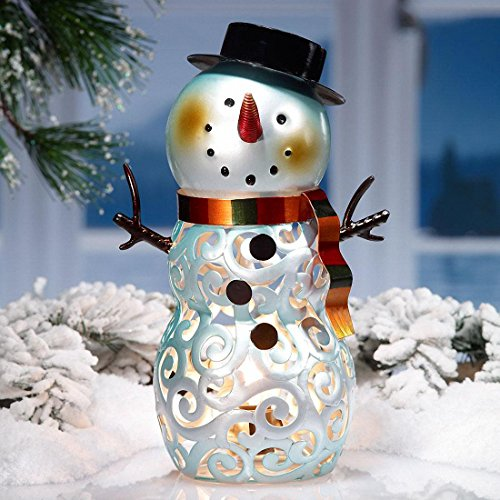 DecoFLAIR Electric Luminary Holiday Snowman Figurine