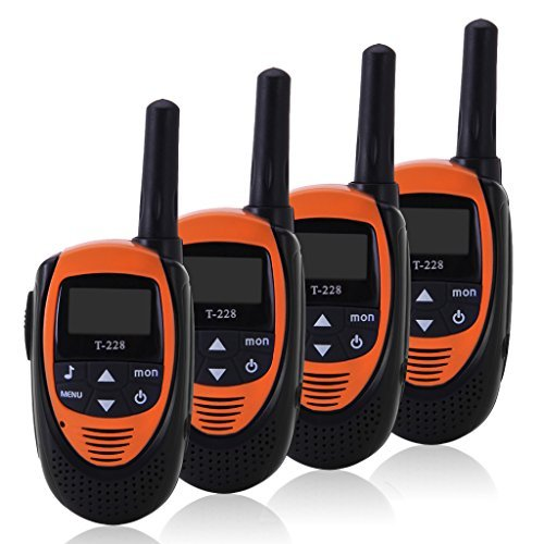 FLOUREON 4 Packs of 22-Channel FRS/GMRS Two-Way Radios 3000M Range Walkie Talkies for Outdoor Activities