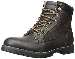 Madden Men\'s M Cayuga Combat Boot, Dark Brown, 8 M US