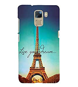 Effie Tower Dream 3D Hard Polycarbonate Designer Back Case Cover for Huawei Honor 7 :: Huawei Honor 7 Enhanced Edition :: Huawei Honor 7 Dual SIM