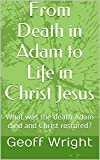 From Death in Adam to Life in Christ Jesus: What was the death Adam died and Christ restored?