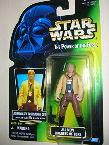 Luke Skywalker in Ceremonial Outfit with Medal of Valor and Blaster Pistol Kenner Star Wars The Power of the Force