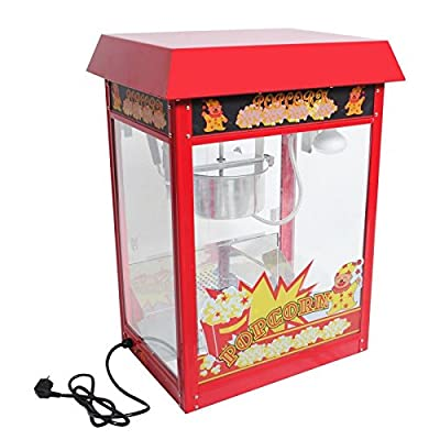 New 8 Oz Electrics Popcorn Red Antique Style Popcorn Popper Machine Stand & Cart by Electric Popcorn Poppers