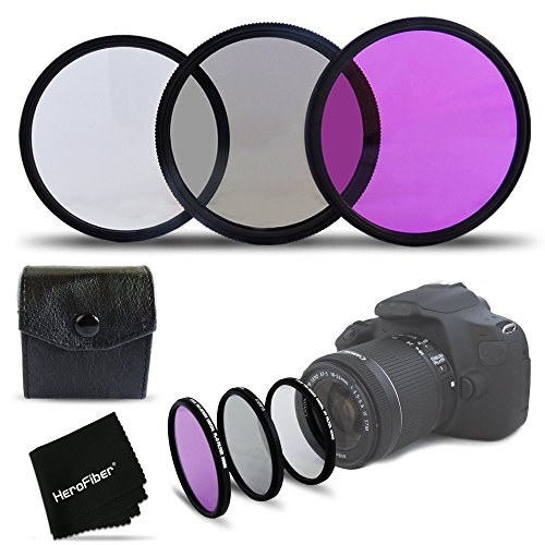 3 Piece High Definition 67mm Filter SET with Protective Case for CANON EOS 70D 60d 60Da 7D 6D 5D 7D 5DS 5DSR Mark II 5D Mark II 5D Mark III EOS REBEL T6i T6S T5 T5i T4i T3 T3i T2i T1i EOS M EOS M2 EOS 1200D 1100D 700D 650D 600D 550D 100D XTi XT SL1 XSi DSLR Cameras (Canon T3i Filters compare prices)