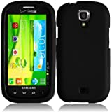 Black Hard Case Snap On Rubberized Cover For Samsung Galaxy Stratosphere 2 i415