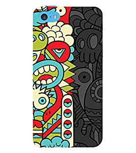 animated abstract pattern 3D Hard Polycarbonate Designer Back Case Cover for Apple iPhone 5C