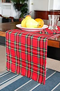 Christmas table runner red plaid runner fully for 120 table runner christmas