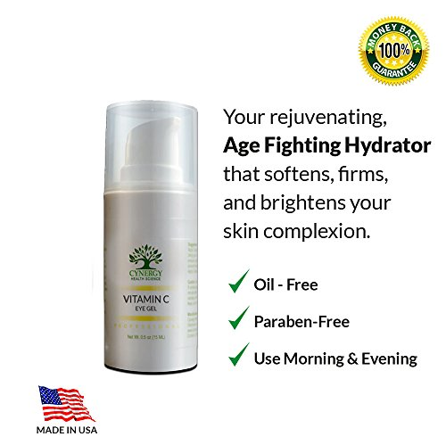 Best Vitamin C Eye Gel, Eye Cream To Rid Dark Circles Puffiness and Wrinkles!