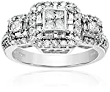 10k White Gold Diamond Engagement Ring (1 cttw, I-J Color, I2-I3 Clarity)