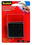 3M Scotch 754ES 12-Piece Black Self-Stick 0.75 x 0.16-Inch Rubber Pads, 6-Pack