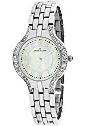 Anne Klein Women's Watch, Mother-Of-Pearl On Stainless-Steel With Silver Metal Band