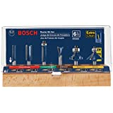 Bosch RBS006 1/4-Inch Shank Carbide-Tipped Multi-Purpose Router Bit Set, 6-Piece