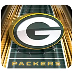 Buy Green Bay Packers Football Field Mouse Pad by Hunter