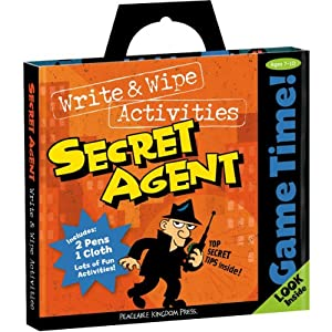 Peaceable Kingdom / Game Time! Secret Agent Write & Wipe Activities