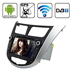 See Rungrace 7.0 Android 4.2 Multi-Touch Capacitive Screen In-Dash Car DVD Player for Hyundai Verna with WiFi / GPS / RDS / IPOD / Bluetooth / DVB-T Details