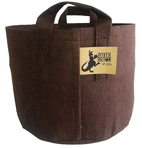 Root Pouch Boxer with Handles - 30 Gallon, Brown (30 Gallon Smart Pot With Handles compare prices)