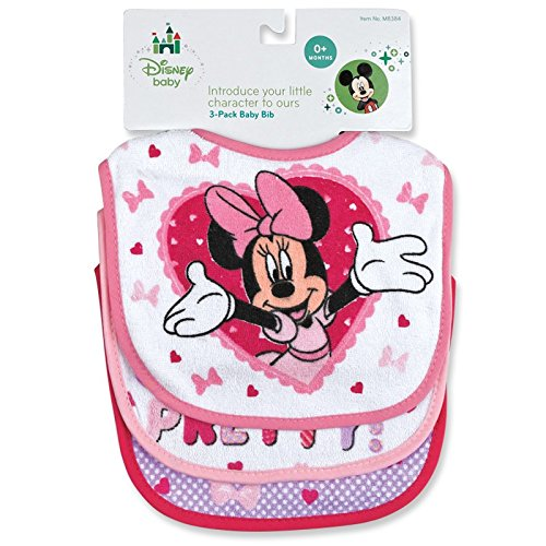 Minnie Mouse Deluxe Terrycloth Baby Bib